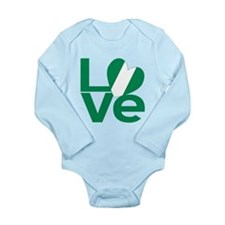Nigerian Green LOVE Body Suit