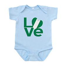 Nigerian Green LOVE Body Suit