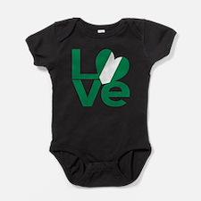 Cute Nigerian flag Baby Bodysuit