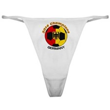 Cute Germany world cup Classic Thong