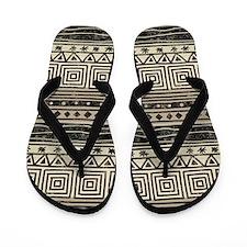 African Pattern Flip Flops