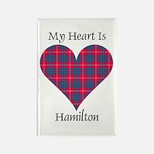 Heart - Hamilton Rectangle Magnet