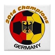 Cute Germany world cup 2014 Tile Coaster