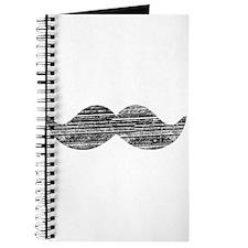 Cute Black moustache Journal