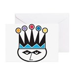 Retro Jester Design Greeting Cards (Pk of 10)