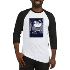 Birds in a Tree by the Full Moon Baseball Jersey