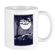 Birds in a Tree by the Full Moon Mugs