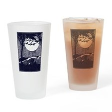 Funny Full moon Drinking Glass