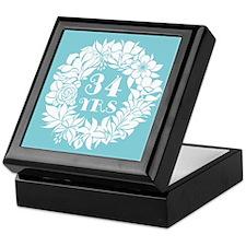 34th Anniversary Wreath Keepsake Box
