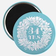 34th Anniversary Wreath Magnet