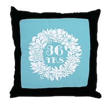 36th Anniversary Wreath Throw Pillow