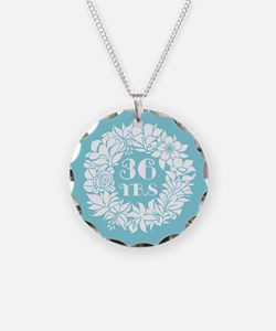 36th Anniversary Wreath Necklace