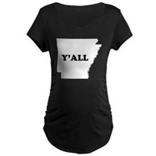 Arkansas Yall Maternity T-Shirt