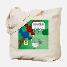 Cat and Angry Birds Tote Bag