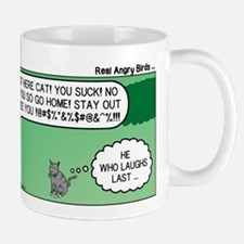 Cat and Angry Birds Mug