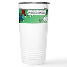 Cat and Angry Birds Travel Mug