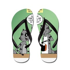 Raccoon Coffee Flip Flops