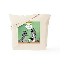 Raccoon Coffee Tote Bag