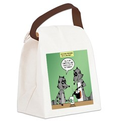 Raccoon Coffee Canvas Lunch Bag