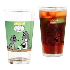 Raccoon Coffee Drinking Glass