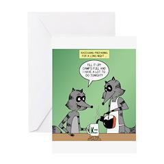 Raccoon Coffee Greeting Card