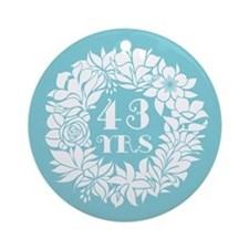 43rd Anniversary Wreath Ornament (Round)