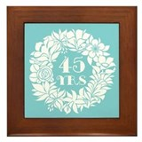 45th anniversary Framed Tiles