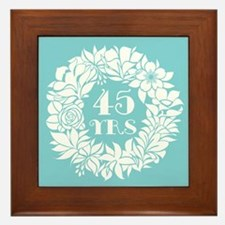 45th Anniversary Wreath Framed Tile