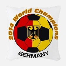 2014 World Champions Germany Woven Throw Pillow