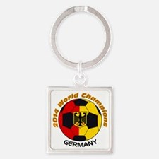 2014 World Champions Germany Square Keychain