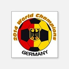 "2014 World Champions German Square Sticker 3"" x 3"""