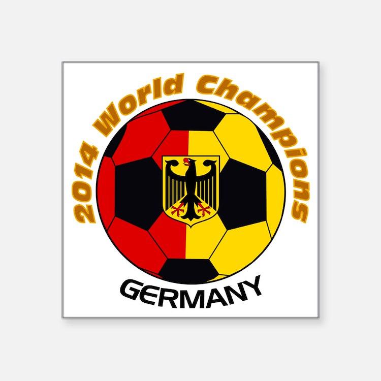 "2014 World Champions German Square Sticker 3"" x 3"""