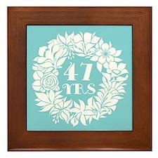 47th Anniversary Wreath Framed Tile