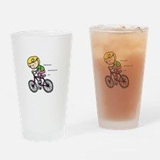 Bicyclist Girl Drinking Glass