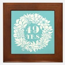 49th Anniversary Wreath Framed Tile