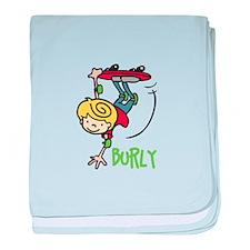 Skate Burly baby blanket