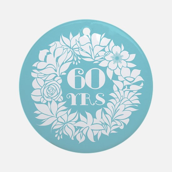 60th Anniversary Wreath Ornament (Round)