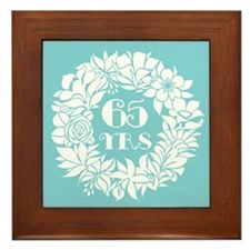 65th Anniversary Wreath Framed Tile