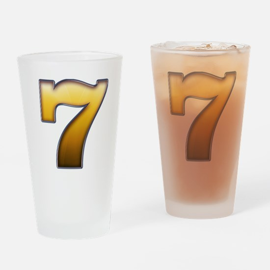 Cool Lucky 7 Drinking Glass