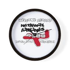 Nathaniel Airlines Wall Clock