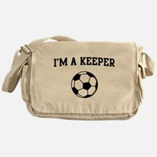 I'm a keeper soccer Messenger Bag