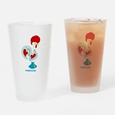 Portuguese Rooster in white Drinking Glass