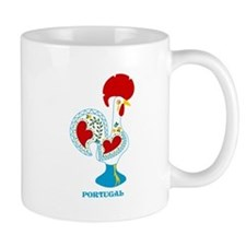 Portuguese Rooster in white Mugs
