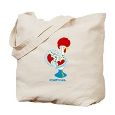 Portuguese Rooster in white Tote Bag