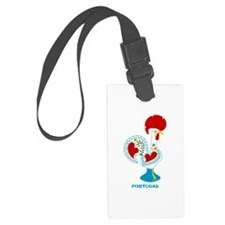 Portuguese Rooster in white Luggage Tag