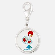 Portuguese Rooster in white Charms