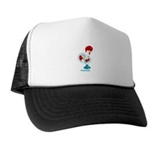 Portuguese Rooster in white Trucker Hat