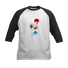 Portuguese Rooster in white Baseball Jersey