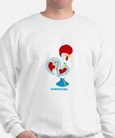 Portuguese Rooster in white Sweatshirt