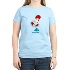 Portuguese Rooster in white T-Shirt